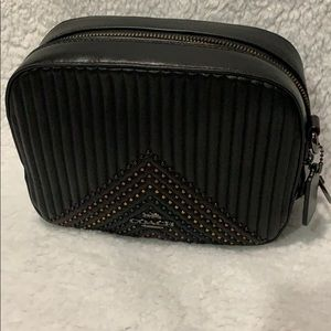 Coach quilted with rivets camera crossbody bag